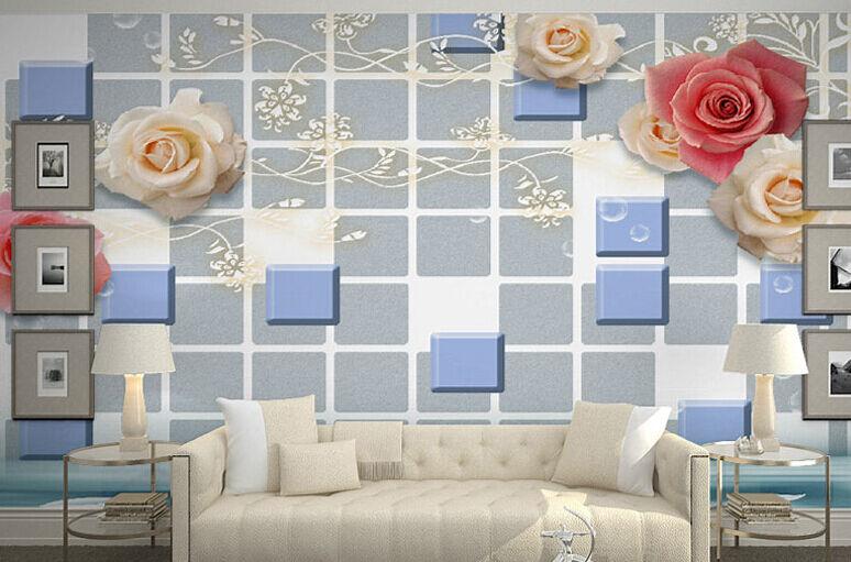 3D Gelsomino 1Parete Murale Foto Carta da parati immagine sfondo muro stampa