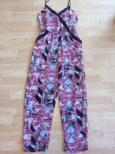 Casual Pink Angeles Los L Fire Size Geometric Jumpsuit Sleeveless Black f48ExPq