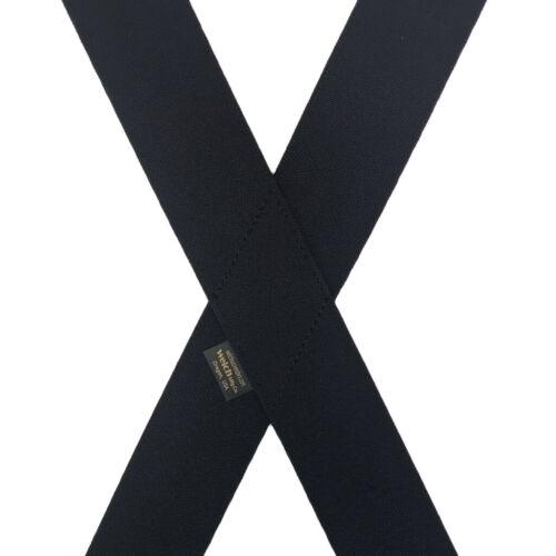 2 Inch Wide BLACK Welch Super Tuff Gator Clip Work Suspenders