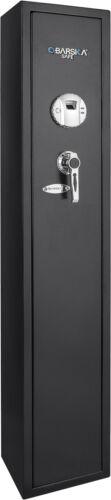 Barska 4 Gun Rifle Safe Quick Access Security Biometric Fingerprint Lock AX11652