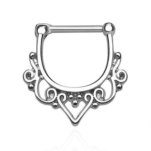 Piercing tabique anillo ornament tribal piercing piercing nariz acero quirúrgico