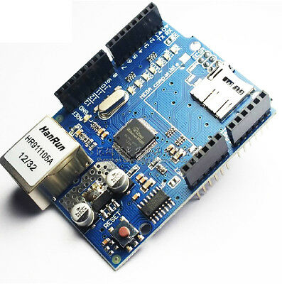 5x Ethernet Shield W5100 For Arduino Main Board 2009 ATMega 328 1280 MEGA2560
