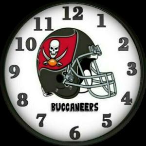 Tampa Bay Buccaneers Wall Clock Football Team Room Decor Super Bowl 2021