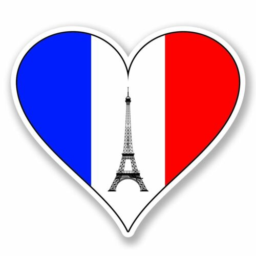 2 X I Love Paris Francia Pegatina de vinilo Laptop Viaje Equipaje Coche #6631