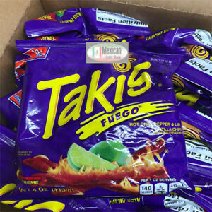 2x Takis Fuego Rolled Corn Tortilla X Tra Hot Chips 4 Oz Each Bag