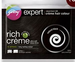 Herbal Hair Dye Colorant By Godrej Natural Black Free Shampoo Unisex