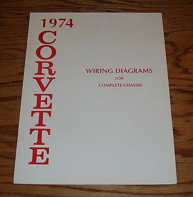 1974 Chevrolet Corvette Wiring Diagram Manual for Complete ...