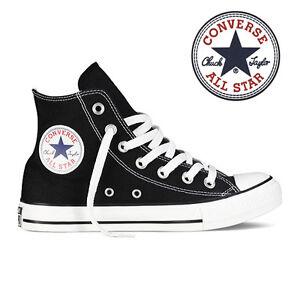 Mens-Converse-Chuck-Taylor-All-Star-High-Top-Canvas-Fashion-Sneaker-Black-All-SZ