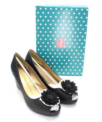 Lindsay Phillips Courtney Tan Python Wedge Shoes Sandal New 7011 Multiple Sizes