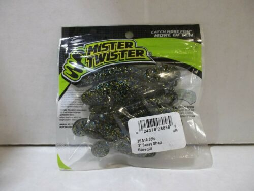 "Mr Twister 3/"" Sassy Shad bluegill 10//pack NIP"