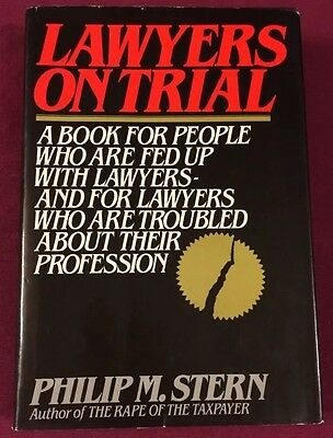 1980 Lawyers On Trial Philip M. Stern Hardback Book Non-Fiction Legal Law