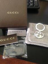 Gucci Sterling Silver Love Britt Heart Keychain Key Ring Key Fob - NIB - GUCCI