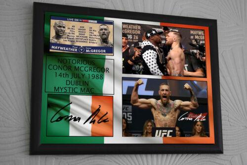 Conor McGregor A3 Boxe vs UFC toile hommage signé