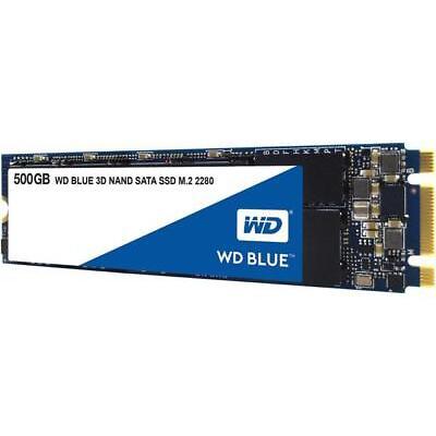 WD Blue 3D NAND 500GB PC SSD - SATA III 6 Gb/s M.2 2280 Solid State Drive - WDS5