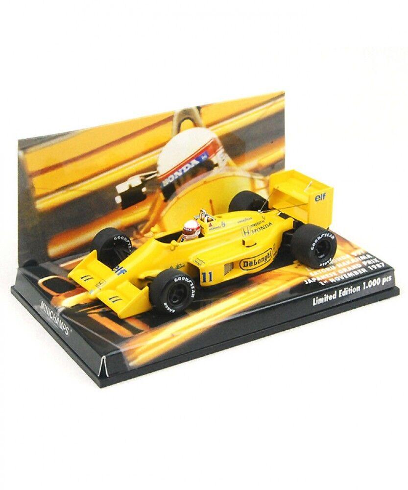 NEUF MINICHAMPS 1 43 LOTUS HONDA 99 T Satoru Nakashima 1987 Grand Prix du Japon Japan