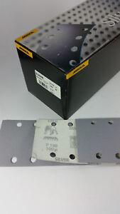 100 x MIRKA Q.Silver Schleifpapier 93x180 mm, Klett,Schleifstreifen, P150,8 Loch
