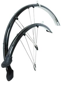 700c x 45mm Hybrid Trekking Bike Bicycle Mudguards Fender Set Black Lightweight