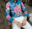 Nightclub Mens Long Sleeve Lapel Printed Floral Slim Fit Shirts Casual Tops Tee