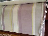 Laura Ashley Roller Blind Eaton Stripe Amethyst Colour