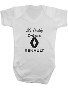 Baby Vest-Baby Romper-Baby Bodysuit-100/% Cotton My Daddy Drives a Renault