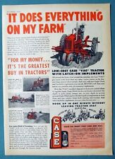 Original 1950 Case VAC Tractor Ad L C BEVENS IT DOES EVERYTHING ON MY FARM