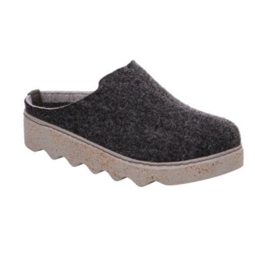 Rohde Damen Foggia Pantoffeln Pantoletten Hausschuhe Cloqs 6120 Anthrazit