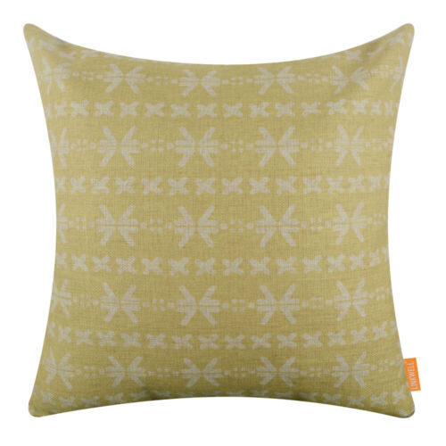Mudcloth Cushion Cover Yellow Mud Cloth Pillow Case Decor African Style Ethnical
