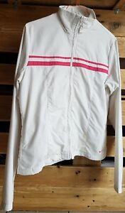 Retro-Womens-White-amp-pink-NIKE-Track-Jacket-SMALL-Size-8-10-Sports-Top