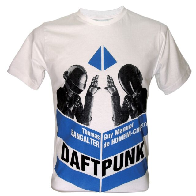 T SHIRT DAFT PUNK DUO DJ THOMUS GUY TECHNO MUSIC DANCE