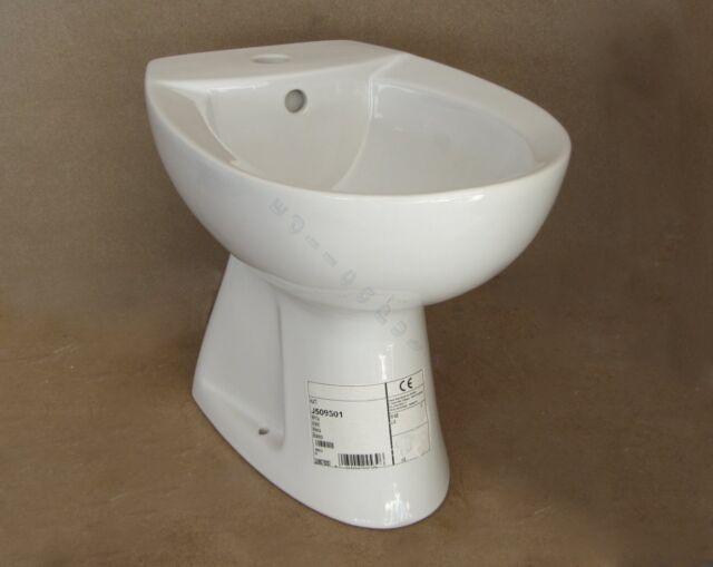 Bidet monoforo tre fori serie tenax sanitari bianco ceramica