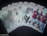 2012/13 WEST HAM HOME PROGRAMMES CHOOSE FROM  (2013)