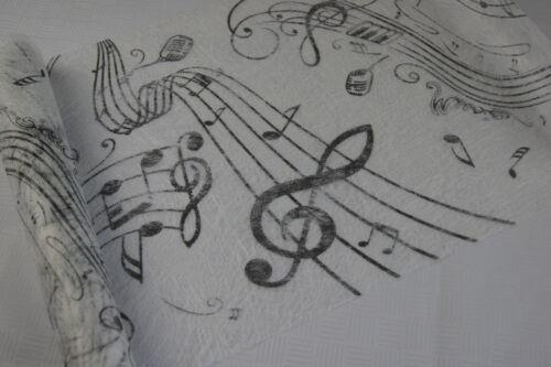 Konfetti Tischdekoration Musik Noten Notenschlüssel weiß