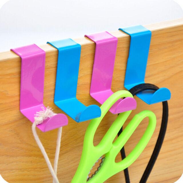 2 Pcs inox au-dessus porte crochet support cintre d'armoires de cuisine