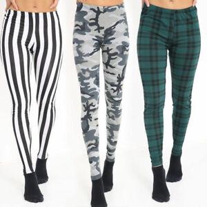 Women-Ladies-Full-Length-Printed-Legging-Jeggings-Stretchy-Pants-Skinny-Leggings