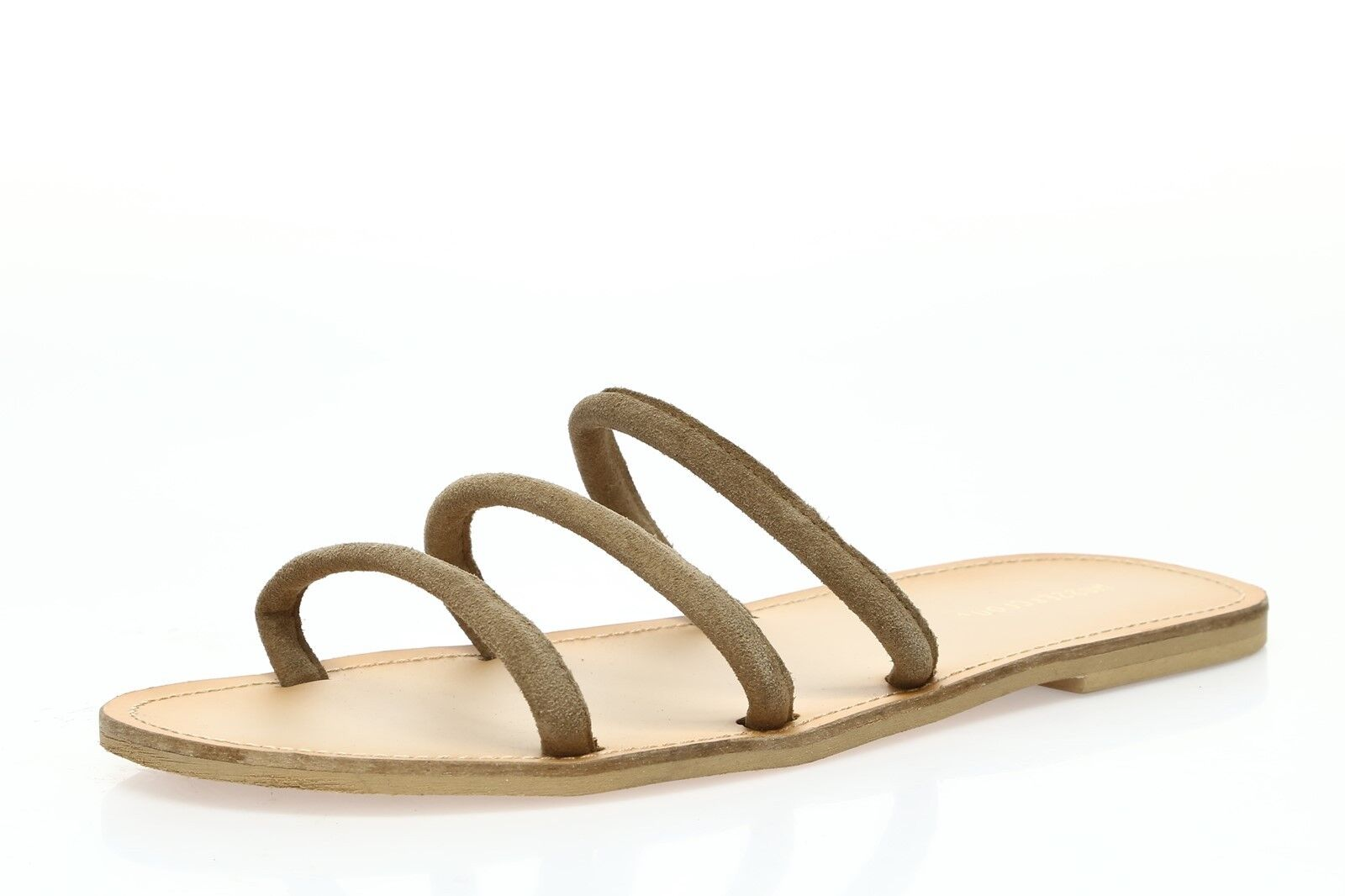 MUSSE & CLOUD Womens 'Narina' Taupe Suede Slide Sandals Sz 12 - 232431