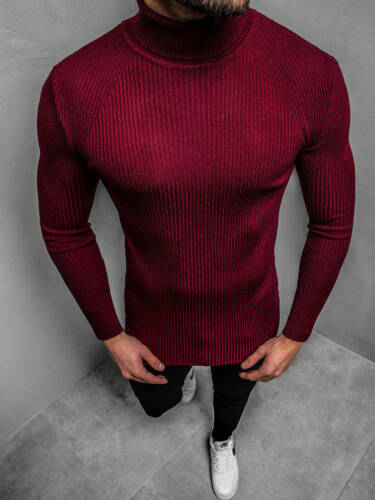 Pull Tricot Pull Sweater Pull Col Roulé Chemise manches longues OZONEE trk2001z Hommes