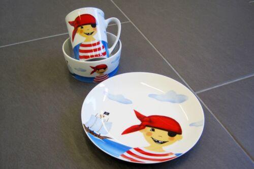 ZIEGFELD Kids Pirat Frühstücksset Porzellan mit Geschenkkarton NEU