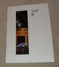 BMW 7 Series E38 Brochure 1996 728I 735I 740I 750I LWB 740IL 750IL