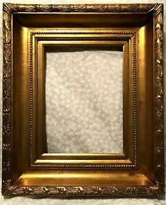 """Provided Antique Reproduction Gold Gilt Vintage Picture Frame Opening 12""""x16"""" Picture Frames Antiques"""