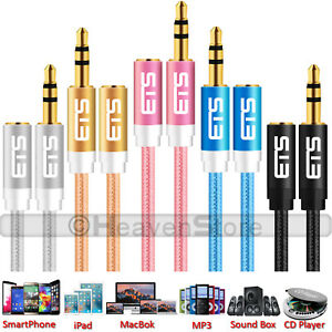 Details about ®ETS 3M 3 5mm Jack Male to Female Audio Aux Cable Headphone  Speaker MP3 iPod