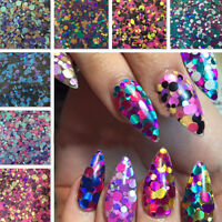 Elegant Holographic Neon Matte Glitter Dots For Nail Art Gel & Acrylic Decor