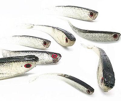 10pcs Soft Silicone Fishing Lure 9.5cm Fishing Tiddler Bait Fishing Lure Bait