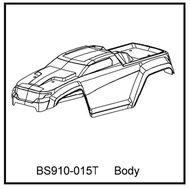 Redcat Racing Bs910 015t T10 Truck Body Clear