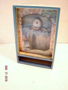 Humpty Dumpty Animated Music Box The World of Alice In Wonderland Japan Sanko
