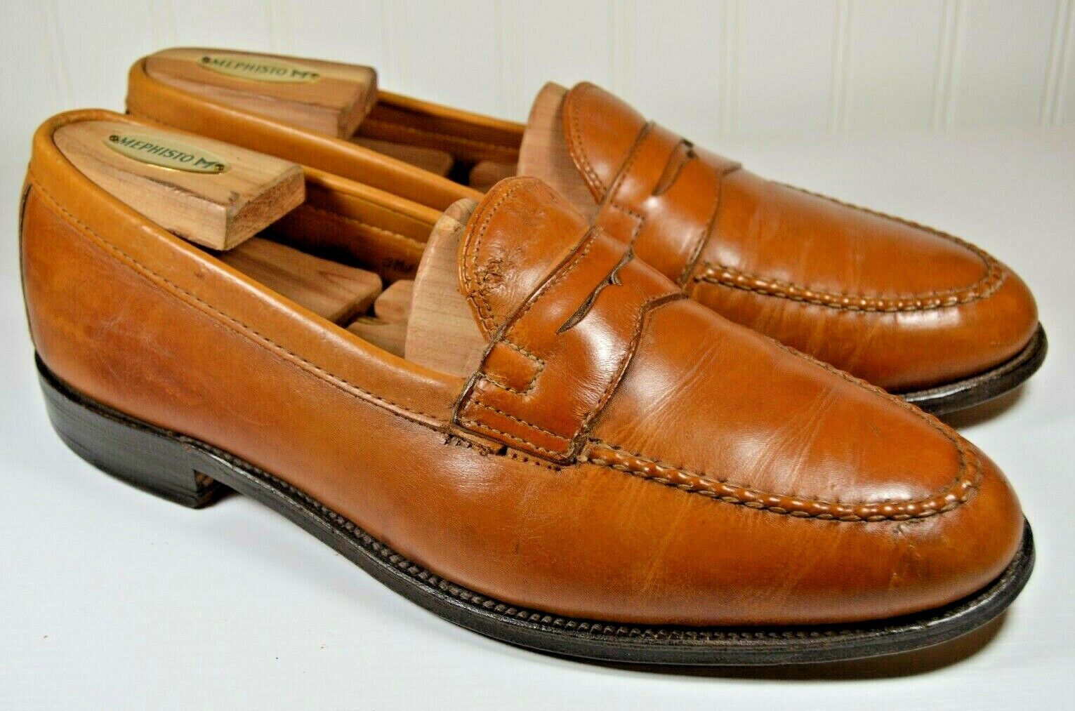 Alden Light Brown Penny Loaders Size US 10.5 D Made in USA