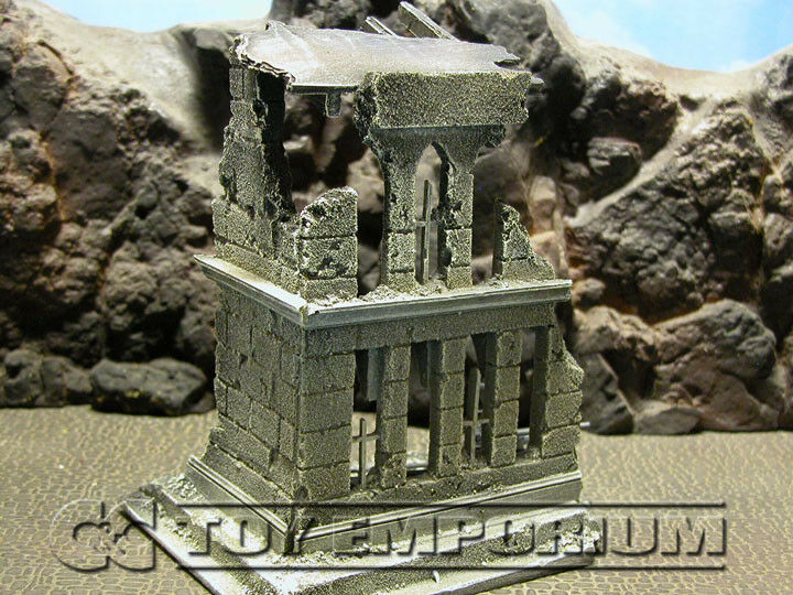 RETIRED  Build-a-Rama 1 32 Hand Painted WWII Church Ruin w Roof