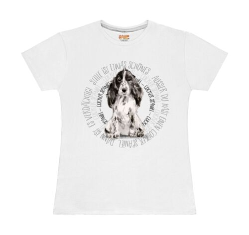 WOMEN T-Shirt CIRCLE COCKER SPANIEL Watercolor by Siviwonder