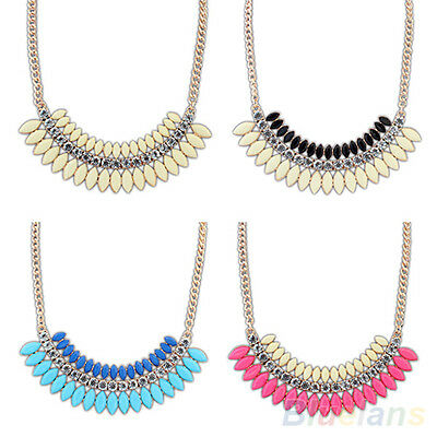 New Fashion Crystal Chain Statement Bib Necklace Choker Nobby Jewelry Pendant