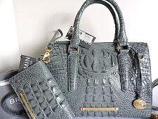 Brahmin Anywhere Convertible Jasper Croc Embossed Leather Tote Bag + Wallet NWT