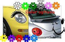 Car Eyelashes Any Headlight Smiley Wink Taillight Cover Hy Face Vw Bug Usa